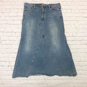 Levi's Long Denim Maxi Skirt Boho Style